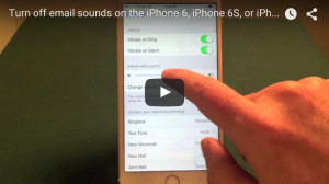 How to turn off iPhone email sounds